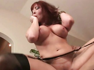fiery redhaired woman amp takes gangbanged by