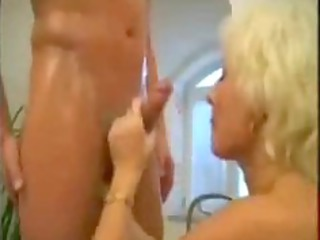 blond mature mom drilled inside the bathroom