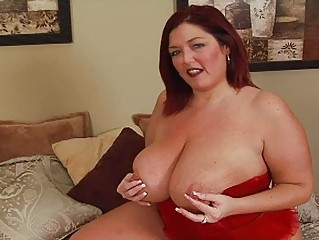 randy redhaired heavy momma with giant bosom
