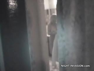 sleeping bigtit woman obtains fucked