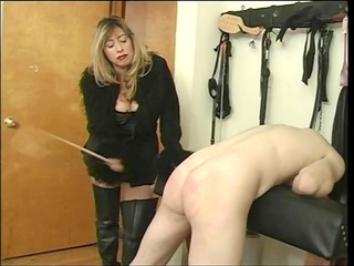 woman cristian spanking her slave dude