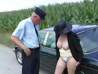 sexfrenzied rich granny gets romped by her driver