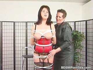 bondage game where brunette horny lady