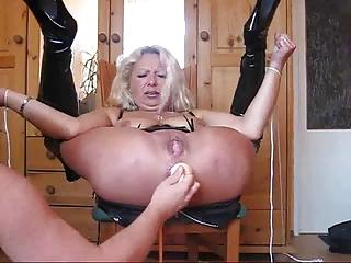 elderly lady really uneasy  bondage