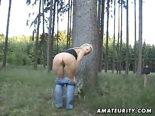 cougar amateur wife licks and bangs public with