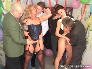 party group fuck with redhead and blond woman