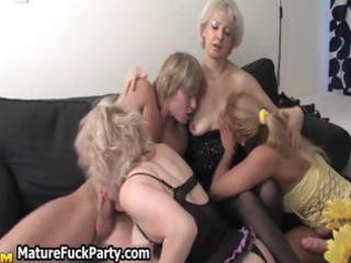 triple experienced mature girlfriends  getting