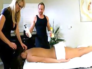 young seduced by a desperate milf masseuse and