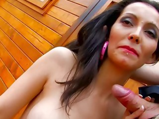 spanish mature babe pleases cock on camera