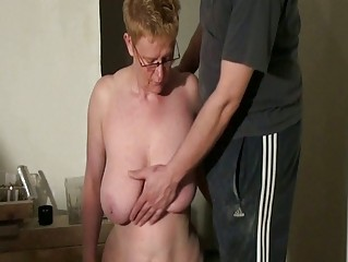 filthy cougar slaves spanking and dick sucking