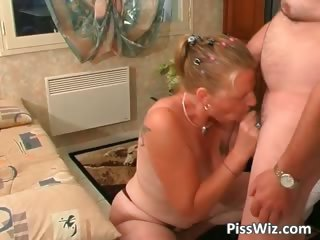 grownup pair gang bang all over the home part6