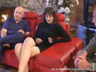 hubby leabes during  his swinger maiden screws a