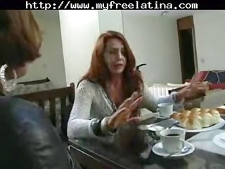 older  brazilian redheaded mom gets hammered by a