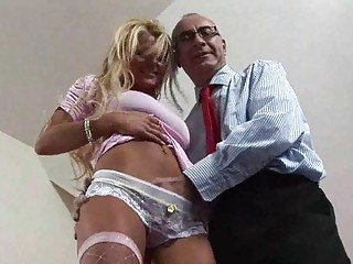 bleached european lady seduced for some banging