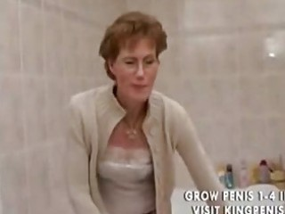 desperate grandma peeing and shaving,.,..