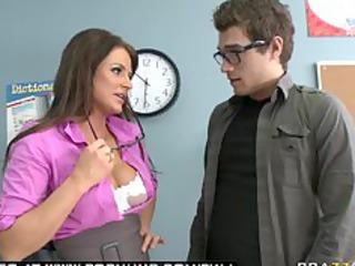big tit brunette milf fuckstar teacher blows her