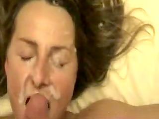 wifey acquires a huge white cream splash porno