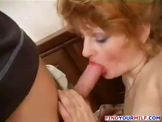 ginger dirty cougar hooker and inexperienced boy