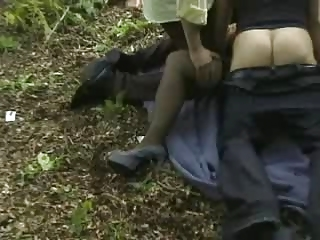 lady acquires gangbanged openair