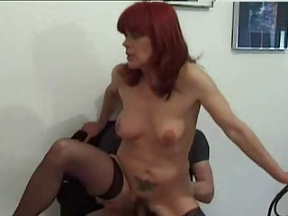 for experts just 7..redhead older  worship bottom