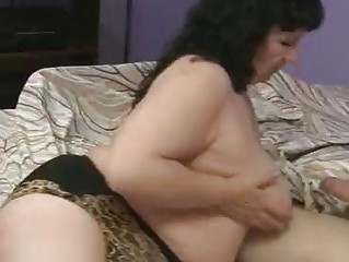 fat grownup is gangbanging her elderly boyfriend