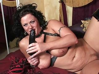 desperate brunette woman into desperate latex