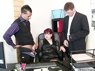 grownup workplace slut likes two libidos