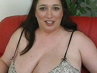 albino ebony haired momma with large breast
