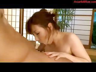 eastern  woman licks his dick and gets drilled