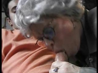 elderly drilling her grandson