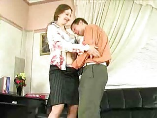 naughty older  angel have porn into bureau