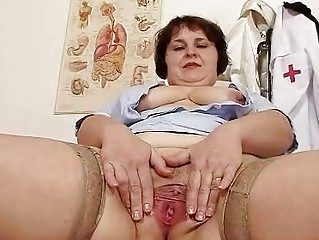 nasty heavy milf undresses doctor uniform