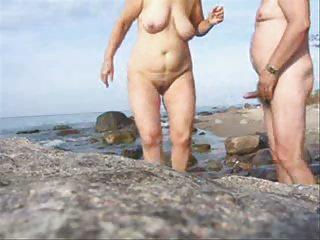 older  duo porn on the beach-wear-tweed
