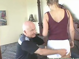 hubby watched his lady got throat and anal