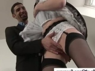 cougar european angel inside nylons takes