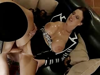 mature babe with large boobies gets him inside
