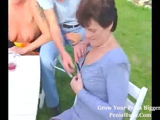 extremely impressive cougar group sex pierce