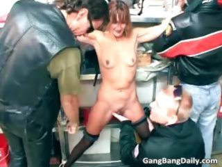 lean lady likes to be fucked by many part3