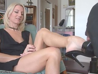 awesome woman mature foot worship