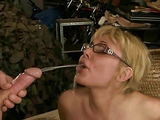 grownup pair pissing and drilling