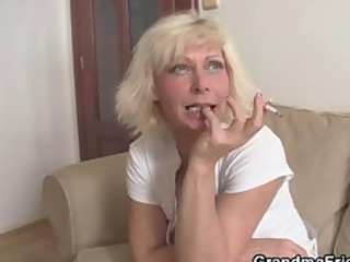lonely elderly needs two amateur dicks