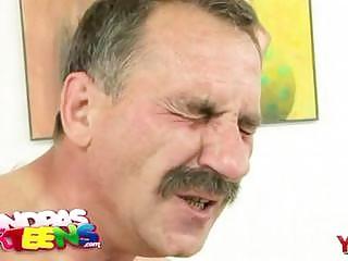 horny grandpa cunnilingus