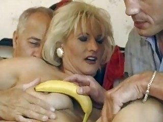 grownup german blond takes twofold drilled