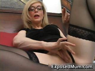blond mum into glasses tasting difficult part2