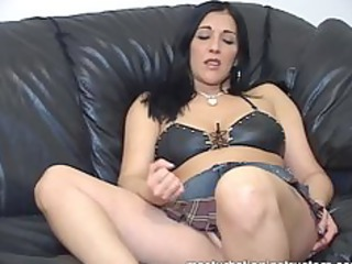 jerk off teacher demos masturbation with her legs