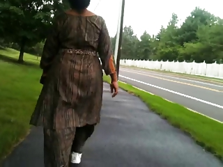 older  indian butt walking
