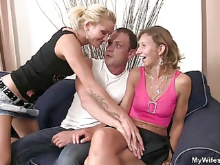 she watches her hubby copulates her milf