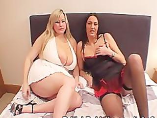 massive breasted woman and cougar obtain facials