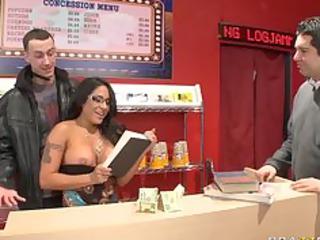 big boob woman brunette pornstar bangs her