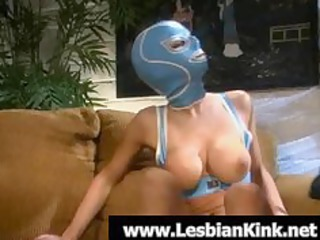 extremely impressive homosexual woman in rubber